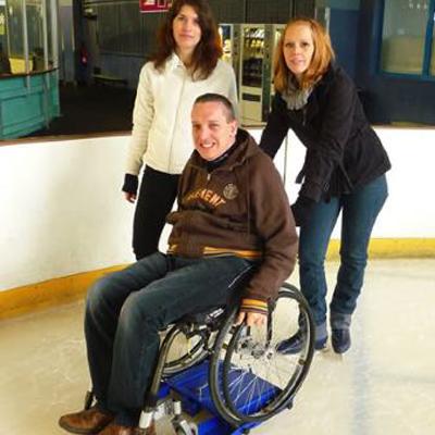 lugiglace sur fauteuil roulant